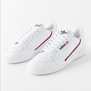 Adidas White Leather Continental 80 Sneaker 5.5